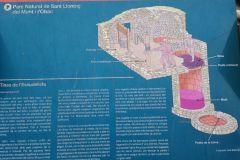 Panel informativo de las tinas del Escudelleta