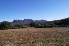 Panorámica de Montserrat desde la masía de Can Soteres