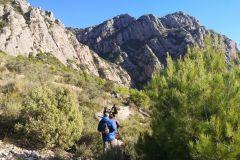 Corriol / sendero a la Cova de les Arnes desde Collbató