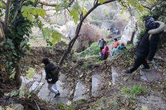 Camino de les Hortes (escalerillas), hacia Olesa de Montserrat