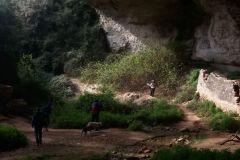 Detalle del interior de la balma de Can Solà