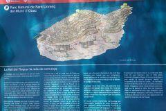 Panel explicativo de la Vall del Flequer