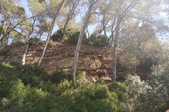 Vista de la parte superior del recinto del Castell de Sant Jaume