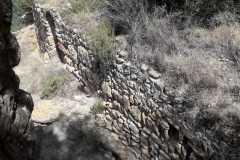 Parte exterior de uno de los muros del Castell de Sant Jaume