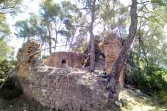 Parte baja del recinto del Castell de Sant Jaume