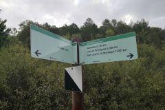 Panel informativo (Albereda, llac de Formigosa y Sant Jaume de Montagut)