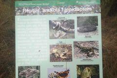 Panel informativo sobre la fauna