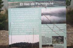 LLac de Formigosa; panel informativo
