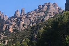 """Agulles de Montserrat; en el lado izquierdo se distingue """"el LLoro"""""""