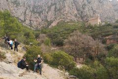 Desvío a la cova de les Arnes desde el camino a la ermita de La Salut